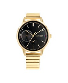 Tommy Hilfiger Womens Gold-Tone Bracelet Watch 38mm, Created for Macy's