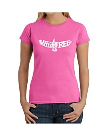 Women's Word Art T-Shirt - Wild and Free Eagle