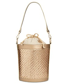 I.N.C. Ajae Woven Bucket Crossbody, Created for Macy's