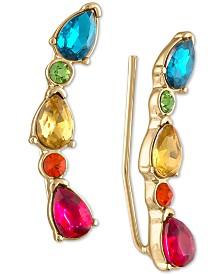 RACHEL Rachel Roy Gold-Tone Multi-Stone Crawler Earrings