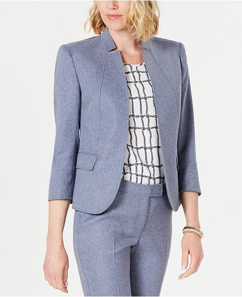 Anne Klein Denim Open-Front Jacket
