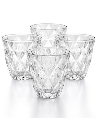 Clear Diamond Double Old-Fashioned Glasses, Set of 4, Created for Macy's