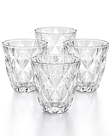 CLOSEOUT! Clear Diamond Double Old-Fashioned Glasses, Set of 4, Created for Macy's