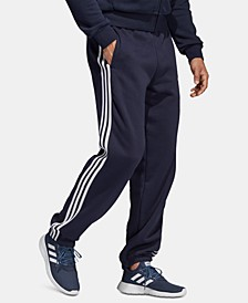 Men's Essentials 3-Stripe Fleece Pants