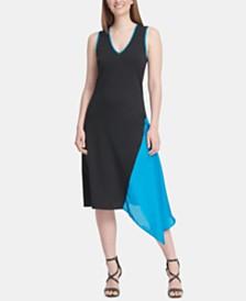 DKNY Sleeveless Asymmetric Dress