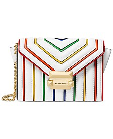MICHAEL Michael Kors Rainbow Trim Leather Crossbody