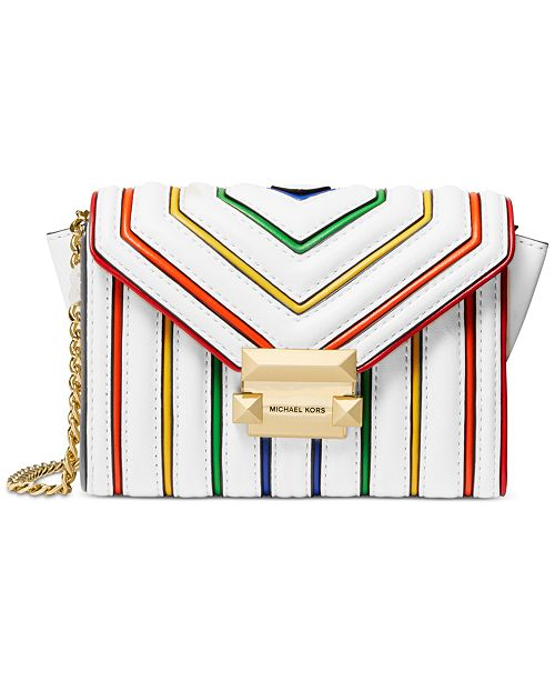 Michael Kors Rainbow Trim Leather Crossbody
