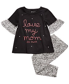 First Impressions Toddler Girls Love My Mom Top & Printed Leggings, Created for Macy's
