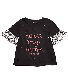 First Impressions Baby Girls Cotton Love My Mom-Print Cotton Top, Created for Macy's