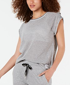 Calvin Klein Performance Rolled-Cuff Sheer Shirt