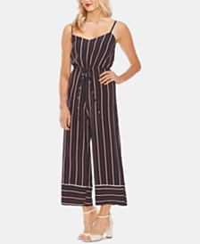 Vince Camuto Striped Wide-Leg Jumpsuit