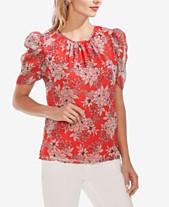 4011fdbfa5e647 Vince Camuto Floral-Print Puff-Sleeve Top