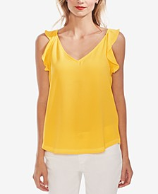 Ruffled-Strap V-Neck Top