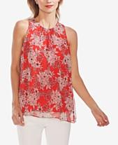 7b186dfc90b116 Vince Camuto Floral-Print Sleeveless Top