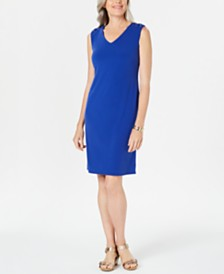 JM Collection Grommet-Shoulder Sheath Dress, Created for Macy's