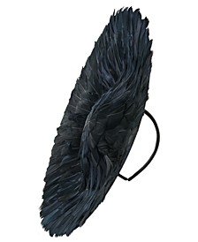 Black Feathered Saucer Hat