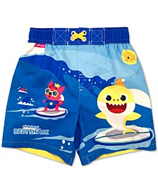 Toddler Boys Baby Shark Swim Trunks