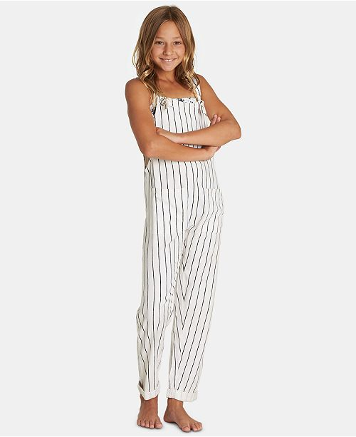 Billabong Big Girls Play It Cool Striped Overalls