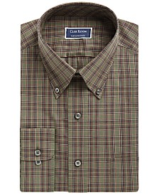 Assorted Club Room Men's Classic/Regular Fit Button Down Collar Dress Shirts, Created for Macy's