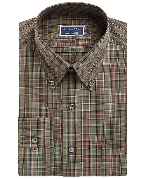 Club Room Assorted Men's Classic/Regular Fit Button Down Collar Dress Shirts, Created for Macy's