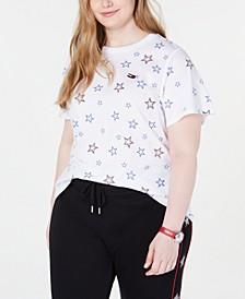 Plus Size Star Print T-Shirt