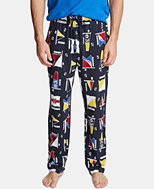 Men's Cotton Flag-Print Pajama Pants