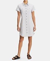 7b9e57f82fd9d EMS® Women's Journey Woven Short-Sleeve Shirtdress