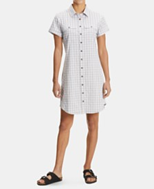 EMS® Women's Journey Woven Short-Sleeve Shirtdress
