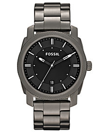 Fossil Men's Machine Gray Tone Stainless Steel Bracelet Watch 42mm FS4774