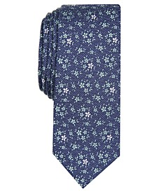 Men's London Floral Skinny Tie