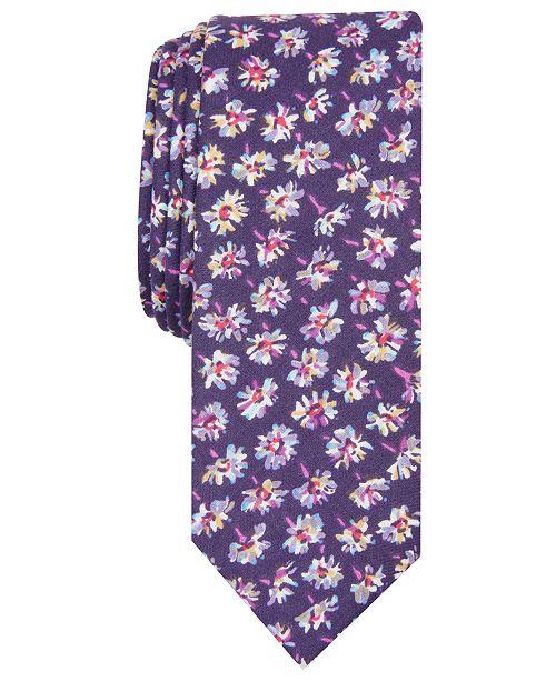 Original Penguin Men's Zager Floral Skinny Tie