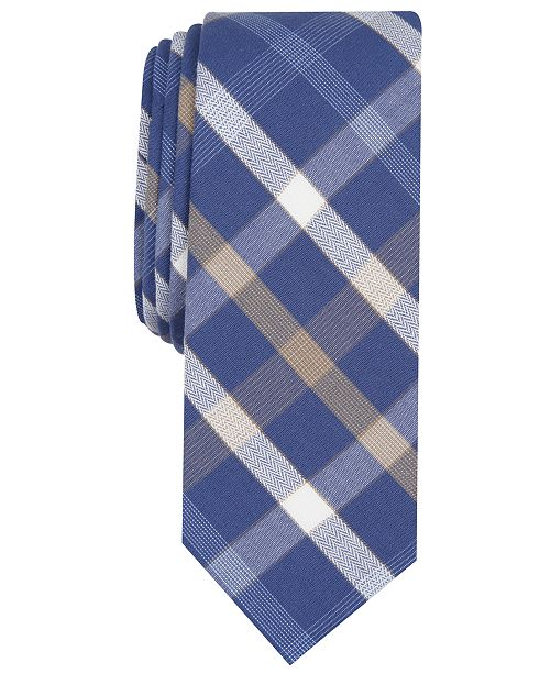 Original Penguin Men's Karly Plaid Skinny Tie