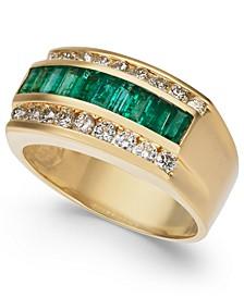 Men's Emerald (1-1/2 ct. t.w.) & Diamond (9/10 ct. t.w.) Ring in 14k Gold