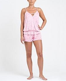 Women's Crossover Tank and Short Pajama Set