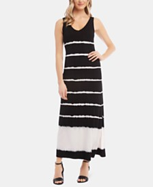 Karen Kane Tie-Dyed Striped Dress