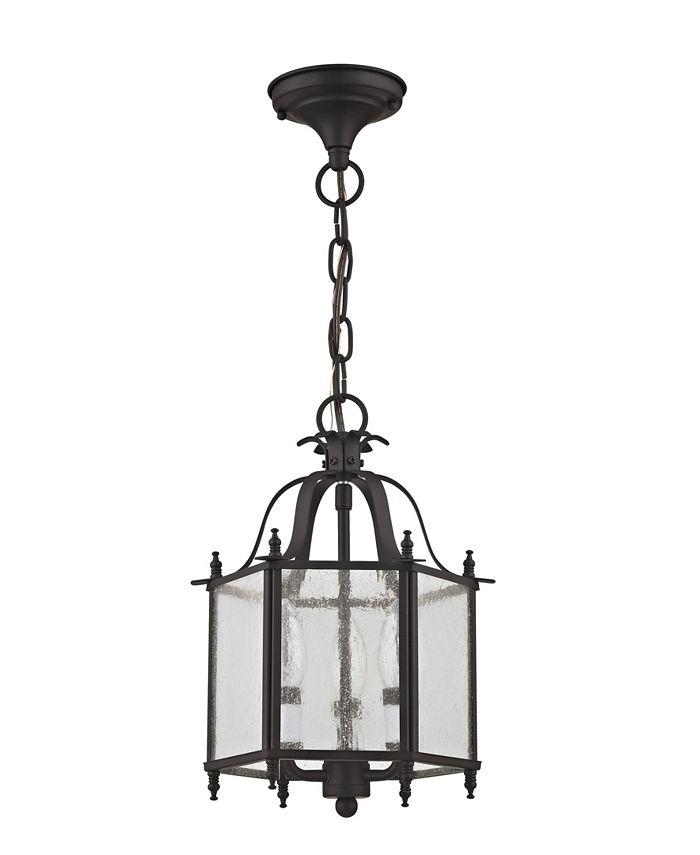 """Livex - Livingston 3-Light 13.75"""" Convertible Mini Pendant/Ceiling Mount"""