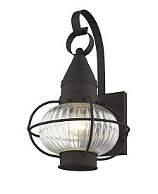 "CLOSEOUT! Livex   Newburyport 1-Light 14.75"" Wall Lantern"