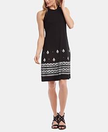 High-Neck A-Line Dress