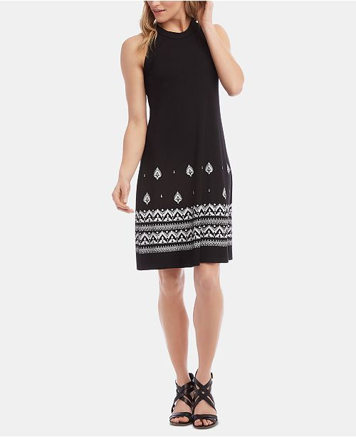 Karen Kane High-Neck A-Line Dress