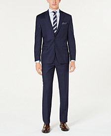 Lauren Ralph Lauren Men's Classic-Fit UltraFlex Stretch Blue Windowpane Plaid Suit Separates