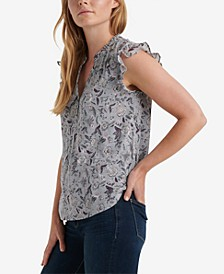Ruffle-Trim Sleeveless Top