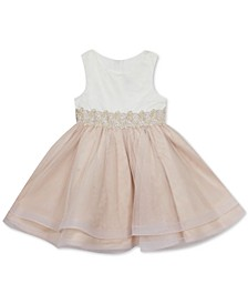 Little Girls Embroidered-Waist Tiered Dress