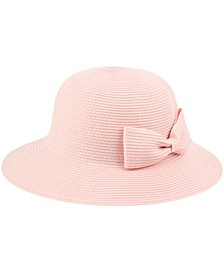 Angela & William Poly Braid Bucket Sun Hat with Ribbon