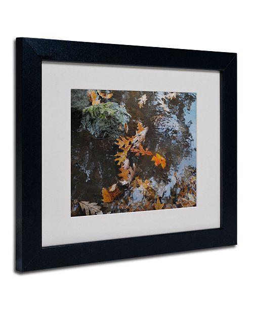 "Trademark Global Monica Fleet 'Buoyant' Matted Framed Art - 14"" x 11"""