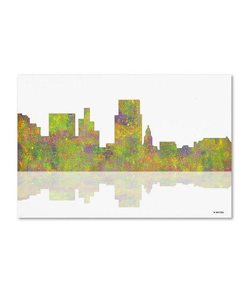 "Trademark Global Marlene Watson 'Boise Idaho Skyline' Canvas Art - 12"" x 19"""