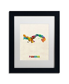 "Michael Tompsett 'Panama Watercolor Map' Matted Framed Art - 11"" x 14"""