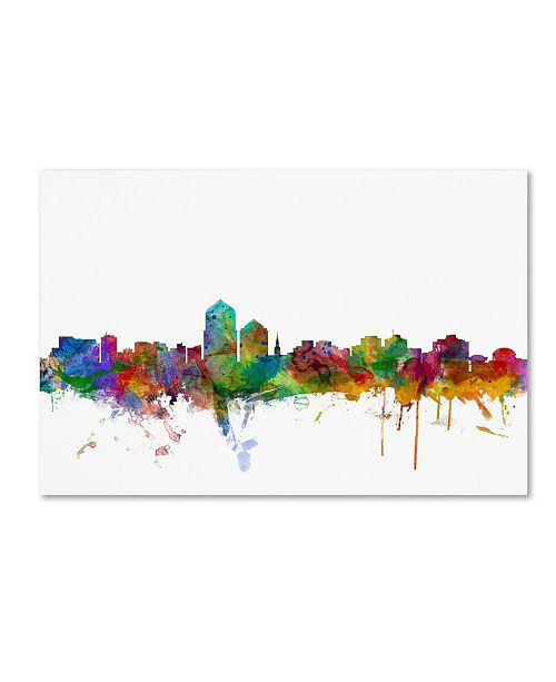 "Trademark Global Michael Tompsett 'Albuquerque New Mexico Skyline' Canvas Art - 12"" x 19"""