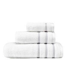 Vera Wang Textured Trellis 3-Pc. Towel Set
