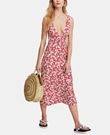 Free People Ohh La La Printed Midi Dress