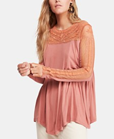 Free People JoJo Lace-Contrast Top